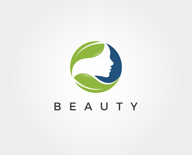 Modello di logo di bellezza minimale