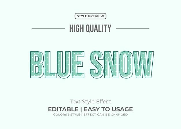 Stile di testo blu minimal con effetto texture neve