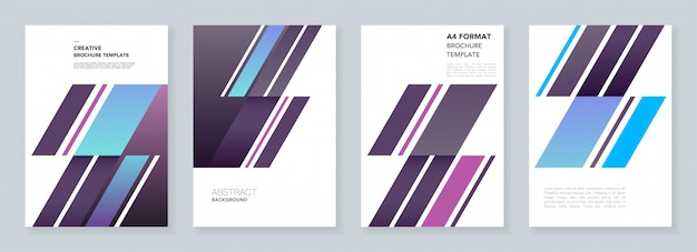Modelli di brochure minimi. estratto con forme dinamiche di forma diagonale in stile minimalista. modelli per flyer, depliant, brochure, report, presentazione, pubblicità.