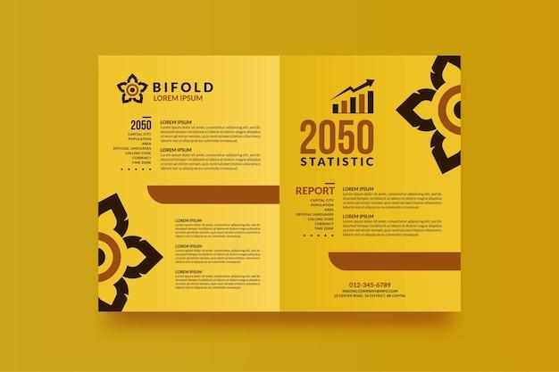Brochure bifold aziendale minimo per il tuo design