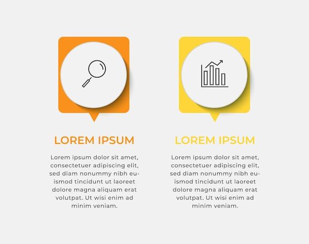 Modello di infografica aziendale minimo
