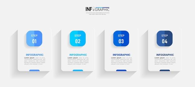 Modello minimo di infografica aziendale