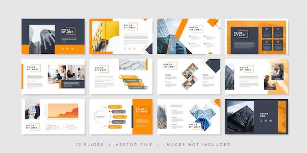 Modello di diapositive di presentazione aziendale minima