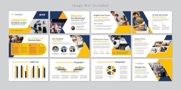 Modello di diapositive di presentazione aziendale minima.