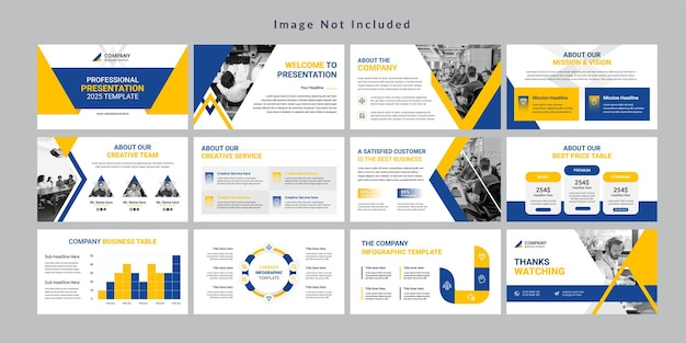Modello di presentazione minimo di diapositive aziendali vettore premium
