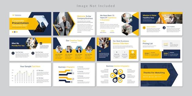 Modello di presentazione di diapositive aziendali minimo