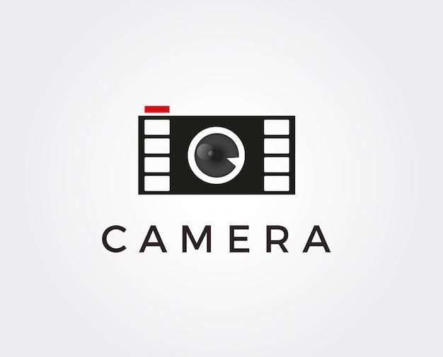 Modello minimo del logo della fotocamera