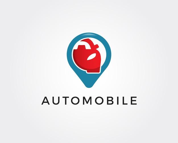 Modello di logo della posizione dell'auto minimo