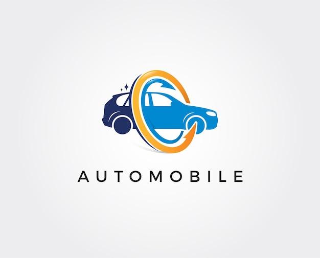 Illustrazione minima del modello di logo dell'autolavaggio
