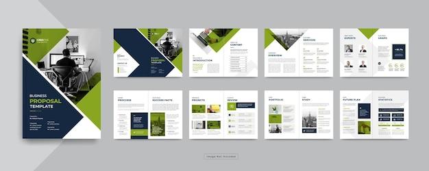 Profilo aziendale minimo o modello di progettazione brochure aziendale aziendale