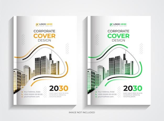 Set di modelli di design per copertine di libri aziendali minimali