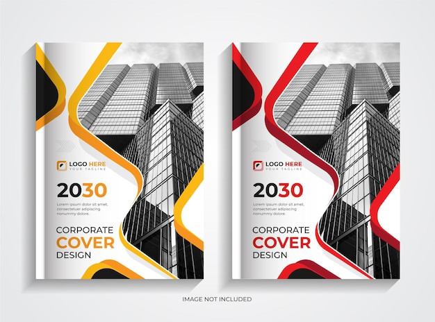 Set di modelli per copertine di libri aziendali aziendali minimi
