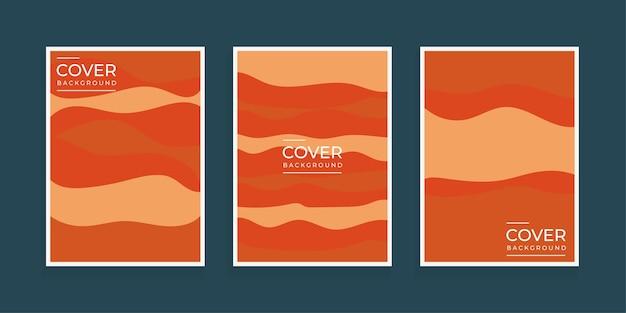 Modello di copertina minimale sfondo geometrico astratto curva moderna