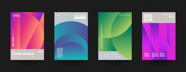 Modelli di copertina minimi. moderna composizione di forme sfumate. Vettore Premium