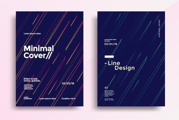 Design minimale delle copertine con una linea semplice di colore