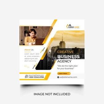 Design del modello di social media per agenzia di business creativo minimo
