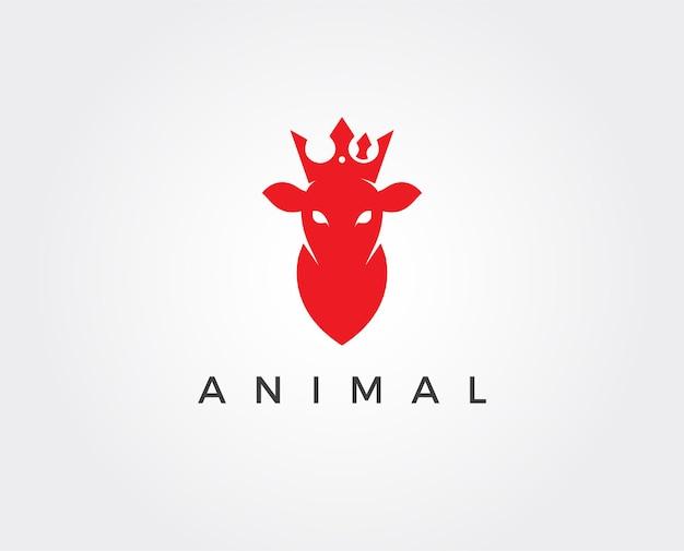 Modello di logo di cervo minimo