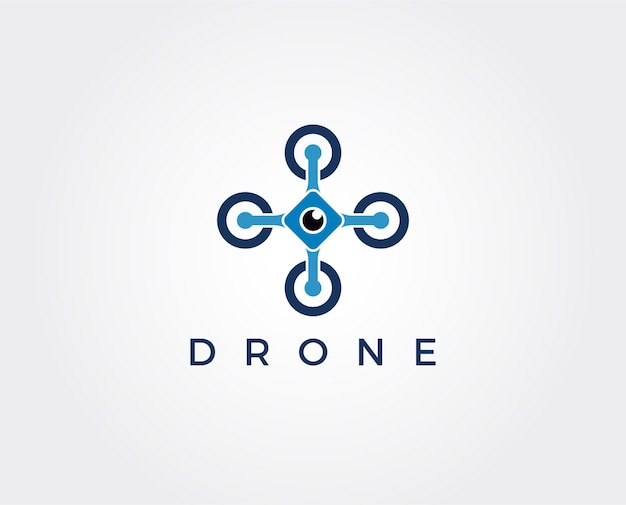 Modello di logo drone minimo