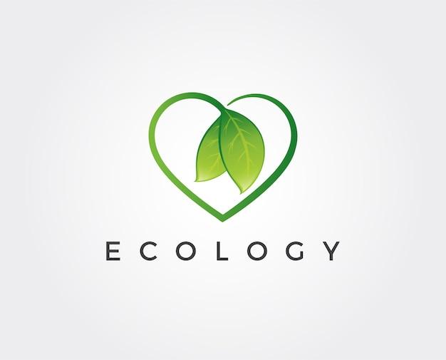 Modello di logo minimo ecologia minimal