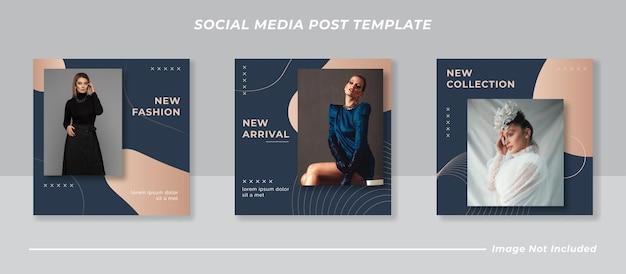 Set di banner instagram moda minimal