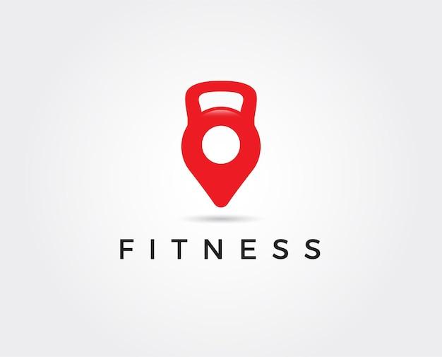 Modello di logo fitness minimo