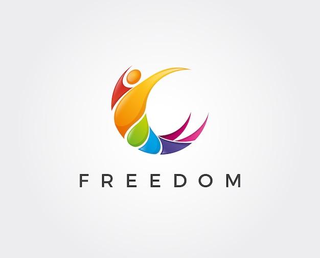 Modello di logo di libertà minima - illustrazione vettoriale