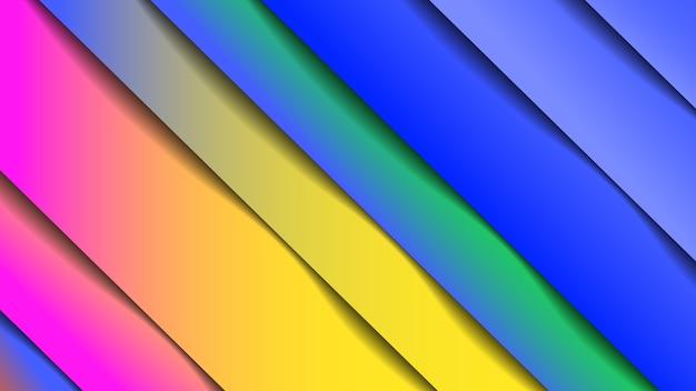 Minimo geometrico astratto vivido colore di sfondo, effetto carta. gradiente di design futuristico con strisce.