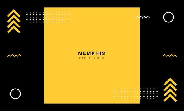 Sfondo geometrico minimal con forme d'oro, carta da parati in stile memphis