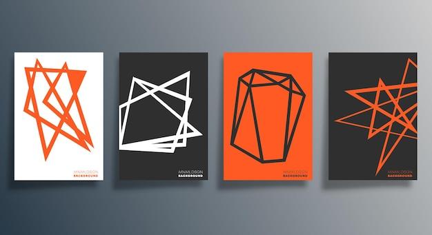 Design geometrico minimale per volantini, poster, copertine di brochure, sfondi, carta da parati, tipografia o altri prodotti di stampa. illustrazione vettoriale.