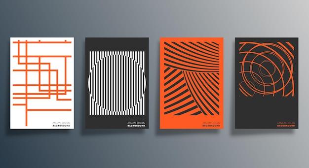 Design geometrico minimale per flyer, poster