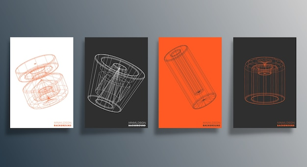 Design geometrico minimale per flyer, poster.