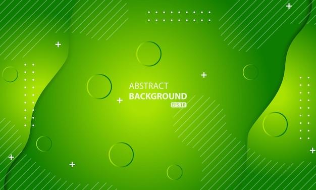 Sfondo verde geometrico minimo. composizione di forme dinamiche.