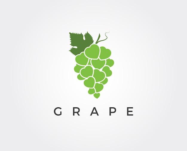 Modello minimo di logo dell'uva