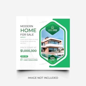 Casa verde minima in vendita modello di social media