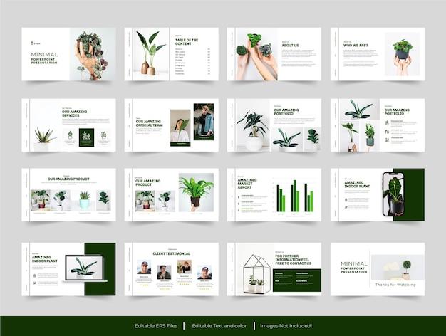Modello di diapositiva di presentazione verde minimo