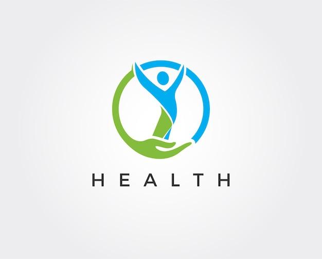 Modello di logo di salute minimo