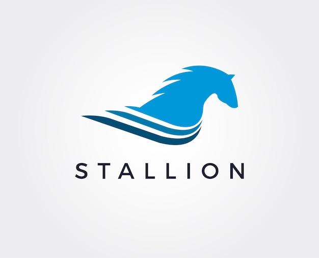 Modello di logo del cavallo minimo