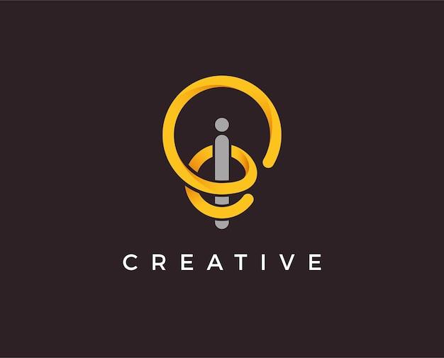 Illustrazione del modello di logo idea minima
