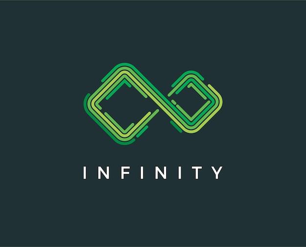 Modello minimo logo infinito - illustrazione