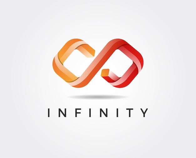 Illustrazione del modello di logo infinito minimo
