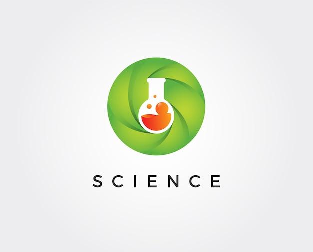 Modello di logo di laboratorio minimo