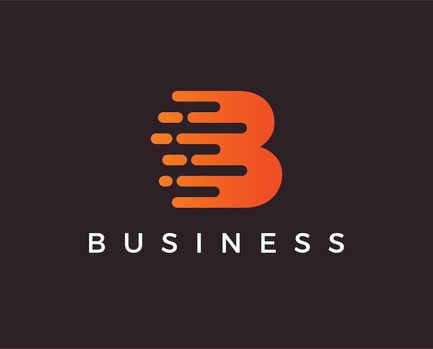 Modello di logo minimo lettera b