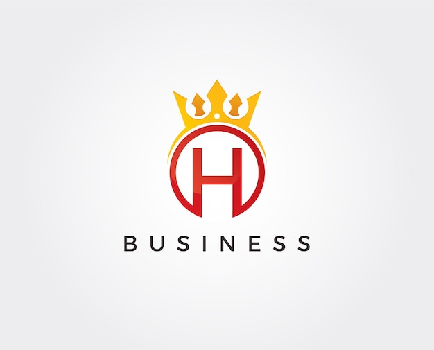 Modello di logo minimo lettera h