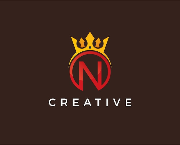 Modello di logo minimo lettera n