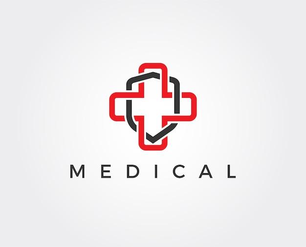 Modello di logo di sicurezza medica minimo