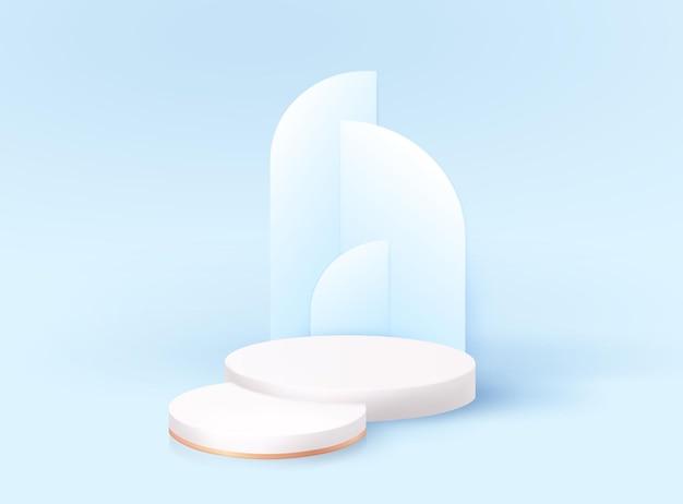 Podio 3d moderno minimale con arco art deco moderno