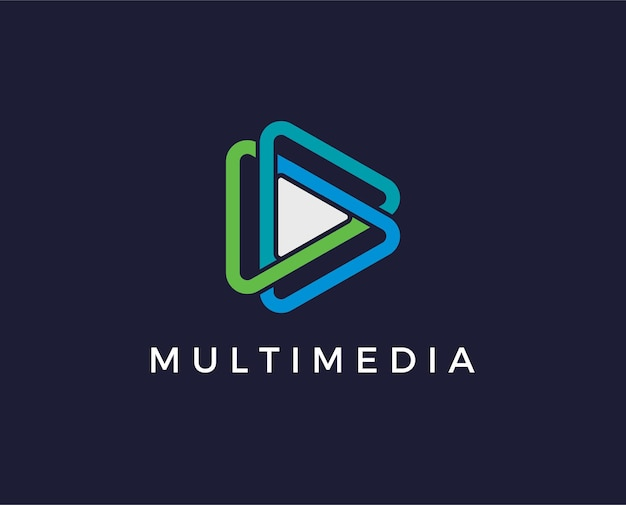Modello di logo multimediale minimo