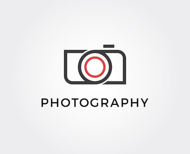 Modello di logo fotografico minimo