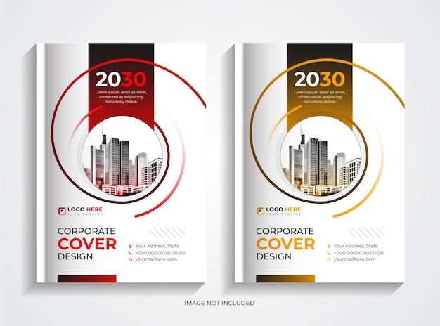 Set di design per copertine di libri aziendali minimal professional