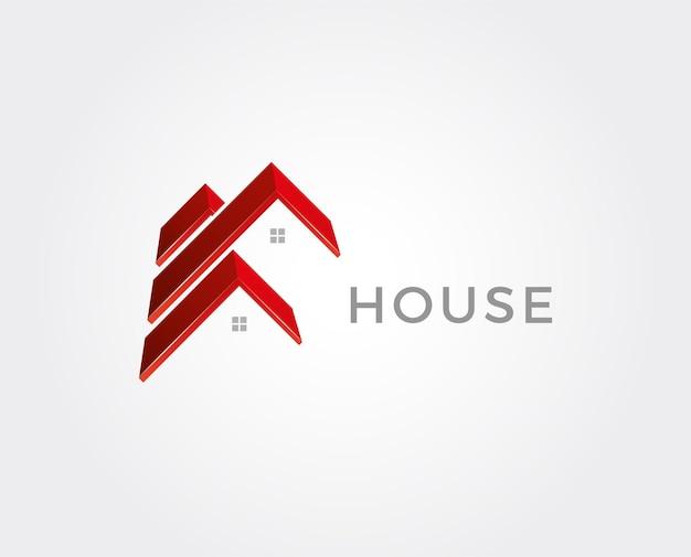 Illustrazione minima di vettore del modello di logo immobiliare